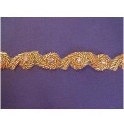 T-008 Gold spiral bead trim