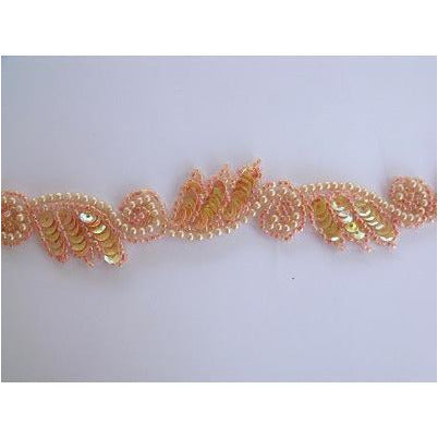 T-015 Apricot Iris leaf and swirl trim