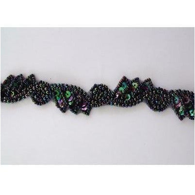T-015 Black Iris leaf and swirl trim