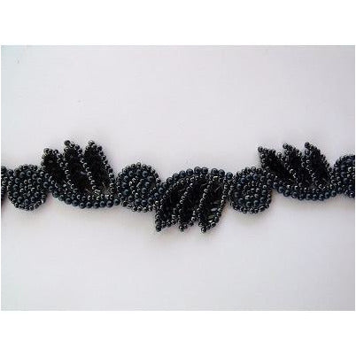T-015 Black leaf and swirl trim