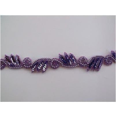 T-015 Lilac leaf and swirl trim
