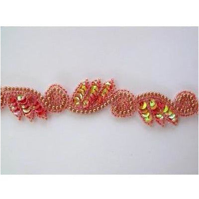 T-015 Peach Iris leaf and swirl trim
