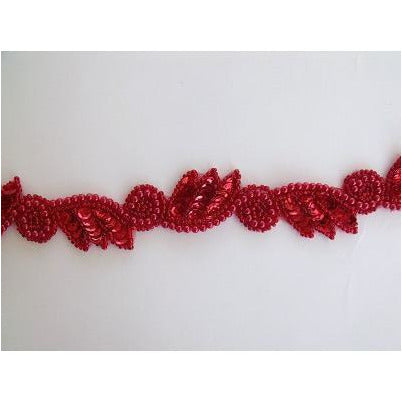 T-015 Red leaf and swirl trim
