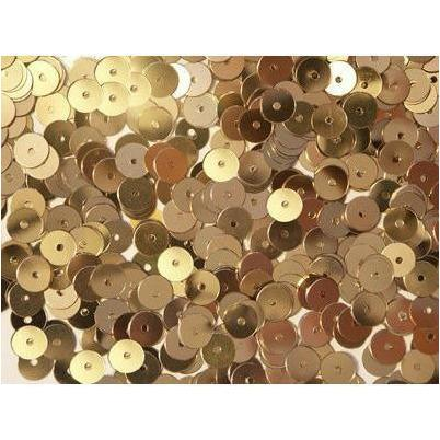 Loose 6mm flat sequins- Gold
