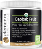Organic Baobab Superfruit Powder 300 Grams, Raw Vegan Superfood Baobab Extract