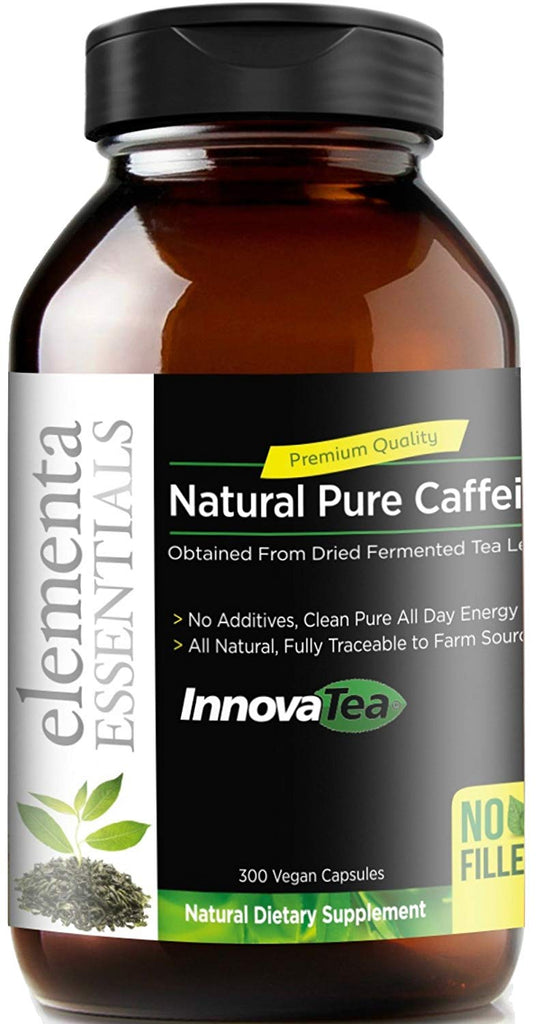 Pure Vegan Caffeine Pills For Energy and Focus