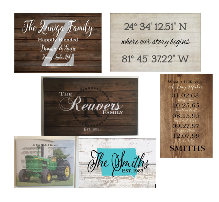Custom Personalized Name Signs and Canvas Wall Art
