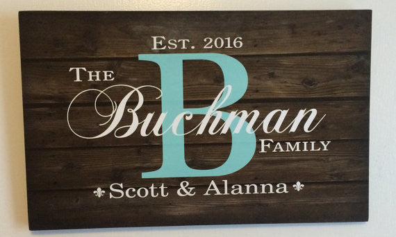 Custom Family Name Sign - Heartland Canvas and Signs