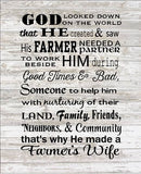God Made A Farmer's Wife - Heartland Canvas and Signs