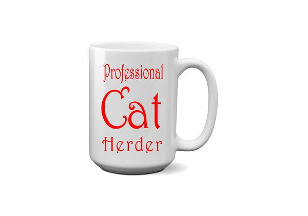 Cat Herder Coffee Mug - Christmas Gift, Coworker Gift, Cat Lover Gift, - Heartland Canvas and Signs