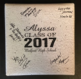 Custom Name Graduation Class of 2017 Guestbook Canvas School, Name, Year, Etc