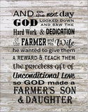 Farmer Son & Daughter - Heartland Canvas and Signs