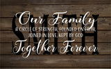 Custom Name Our Family Together Forever Monogram - Heartland Canvas and Signs