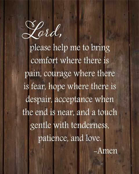Nurse's Prayer Inspirational Wood Sign Canvas Wall Art Nursing Graduate,Christmas, Nurse College, Mother's Day, Graduation, College - Heartland Canvas and Signs