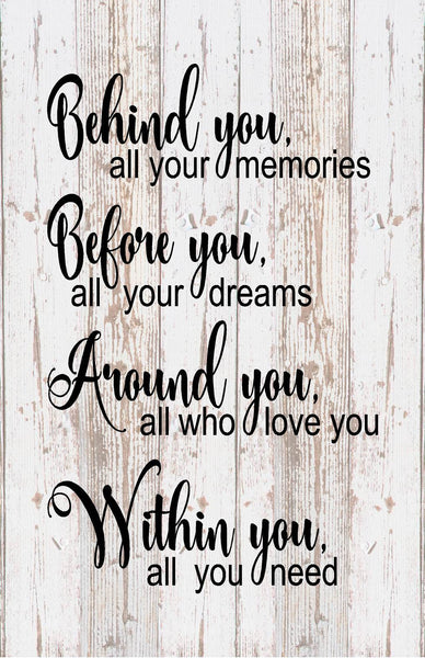 Senior 2019 Within You All You Need Inspirational Wood Sign Canvas Wall Art Graduation Gift - Heartland Canvas and Signs