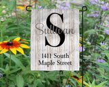 Custom Name Address Garden flag  Personalized Garden Flag  Wedding Gift  Mother's Day Gift  Summer Garden  Garden Art  Name Sign - Heartland Canvas and Signs