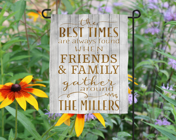Custom Name Friends Family Garden flag  Personalized Garden Flag  Wedding Gift  Mother's Day Gift  Garden Art  Name Sign - Heartland Canvas and Signs