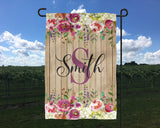 Monogram Garden Flag  Country Chic Garden Flag  Spring Garden Flag New Home Gift  Housewarming Gift  Garden Decor Wedding Gift  Mother's Day - Heartland Canvas and Signs