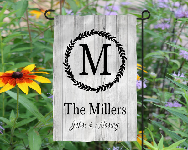 Custom Name Garden flag  Personalized Garden Flag  Wedding Gift  Mother's Day Gift  Summer Garden Flag  Outdoor Decor  Garden Art  Name Sign - Heartland Canvas and Signs