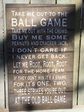 Take Me Out To The Ball, Bats, Balls, Baseball Theme Set Wood Sign or Canvas Wall Art Boys Room, Nursery Decor,  Christmas Gift,  Birthday - Heartland Canvas and Signs