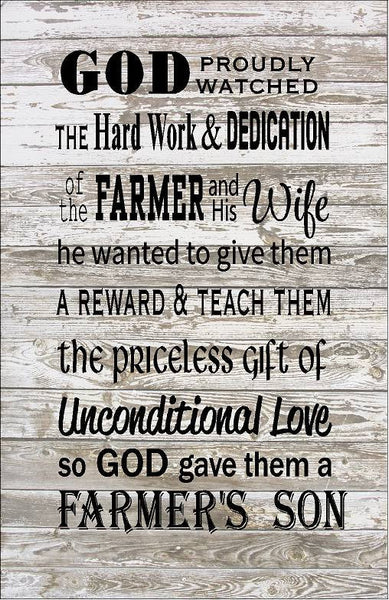 Farmer Son - Heartland Canvas and Signs
