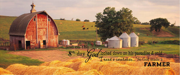 And on the 8th Day God Made A Farmer Custom Photo Wood Sign Canvas Wall Art Mother's Day Christmas, Birthday, FFA, Father's Day - Heartland Canvas and Signs