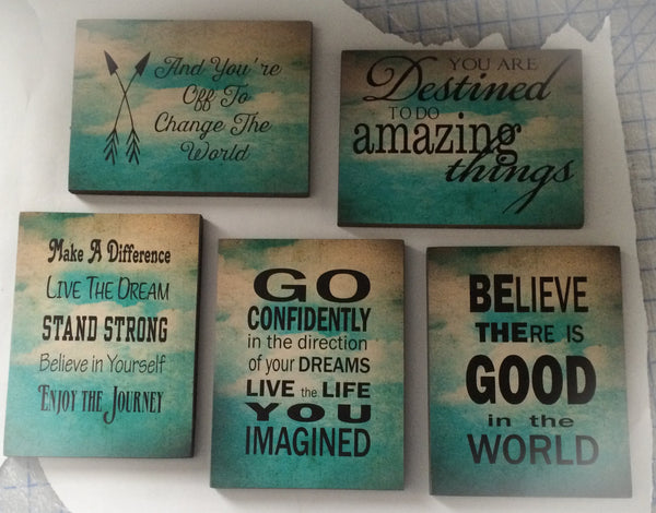Graduation Decor Set of Wood Signs and Canvas Custom Photo Banner, Inspirational, Graduation gift, Christmas, - Heartland Canvas and Signs