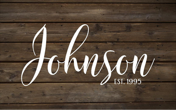 Custom Personalized Family Name Established Sign or Canvas Wall Art - Wedding Gift, Shower Gift, Housewarming, Guest Book Alternative, Photo Wall, Christmas Gift, Anniversary Gift - Heartland Canvas and Signs