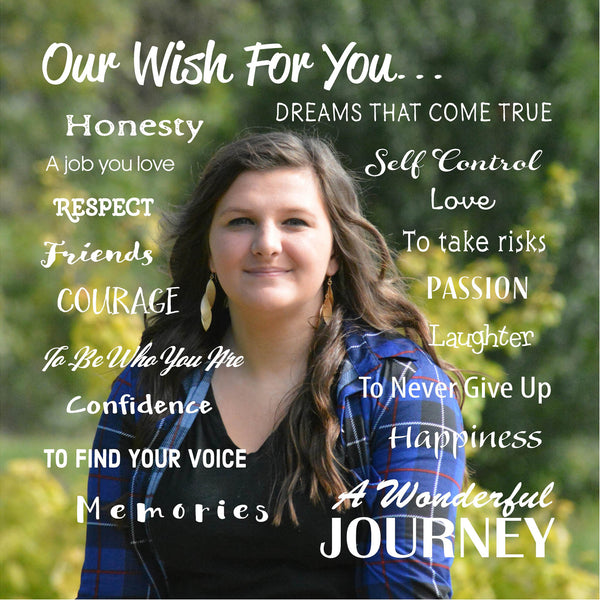 Our Wish Custom Photo Wood Sign or Canvas Art - Graduation Gift, Graduation Party Decor, - Heartland Canvas and Signs