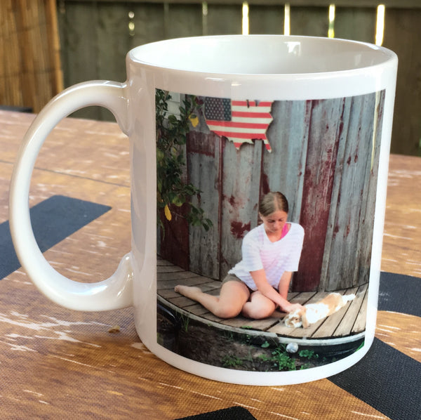 Custom Photo Coffee Mug - Christmas Gift, Mother's Day, Birthday, Father's Day, - Heartland Canvas and Signs