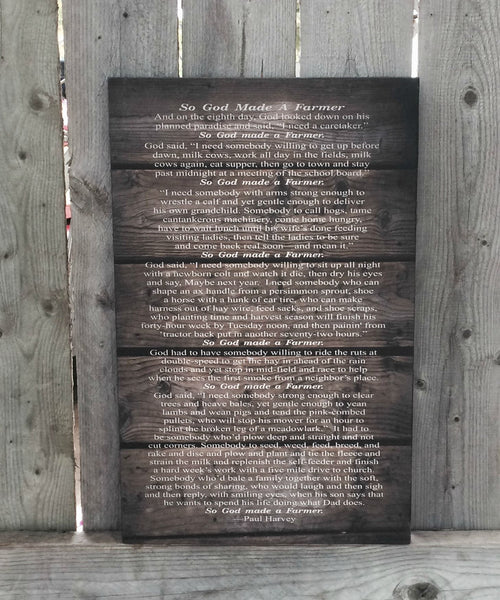 And on the 8th Day God Made A Farmer Wood Sign or Canvas Wall Art - Great Gift for FFA Member, Christmas, Father's Day, Graduation, Wedding, etc. - Heartland Canvas and Signs