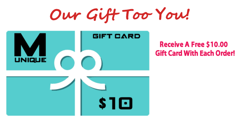 Free $10 Gift Card with every order!