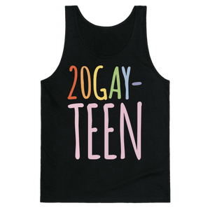 20-Gay-Teen Tank Top - Black