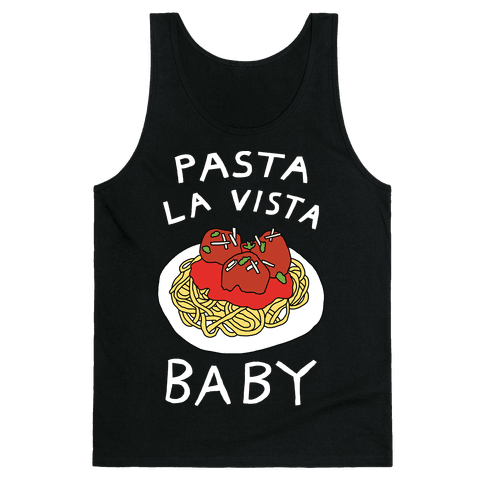 Pasta La Vista Baby Tank Top - Black