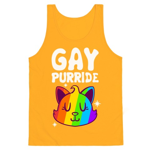 Gay Purride Tank Top - Gold