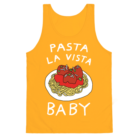 Pasta La Vista Baby Tank Top - Gold