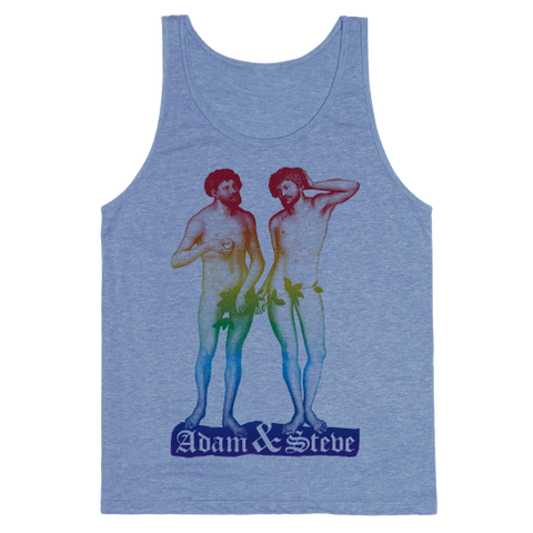 Adam And Steve Tank Top - Heathered Blue
