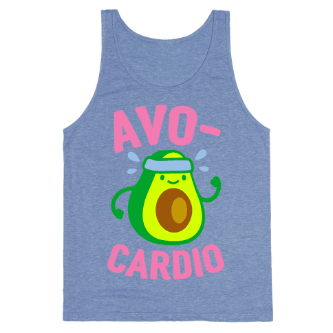 Avocardio Tank Top - Heathered Blue