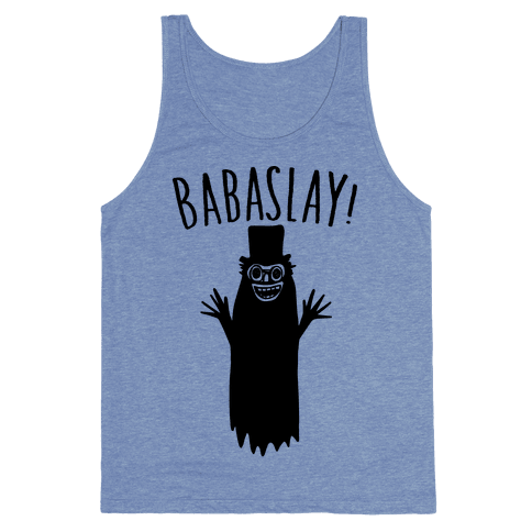 Babaslay Parody Tank Top - Heathered Blue