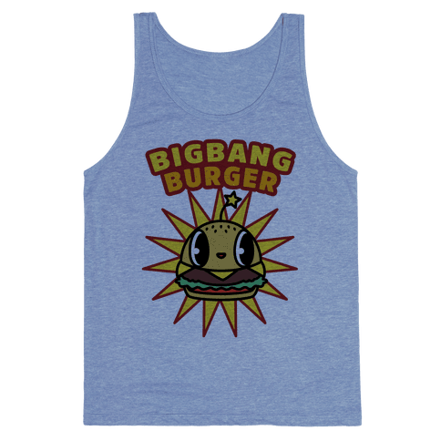 Big Bang Burger Tank Top - Heathered Blue