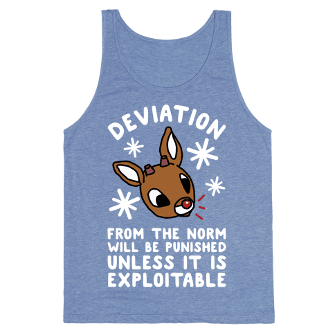 Deviation Rudolf Tank Top - Heathered Blue