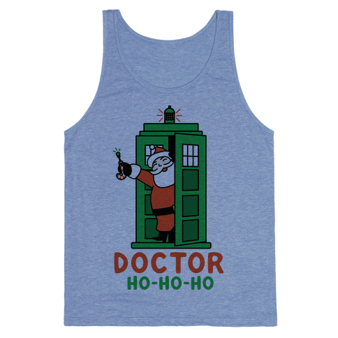 Doctor Ho-Ho-Ho Tank Top - Heathered Blue