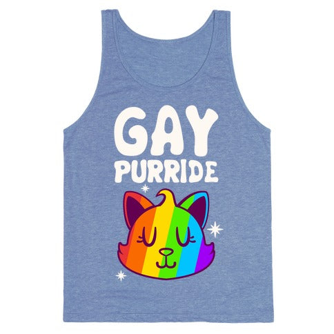 Gay Purride Tank Top - Heathered Blue