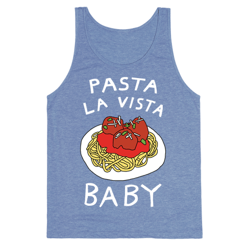 Pasta La Vista Baby Tank Top - Heathered Blue
