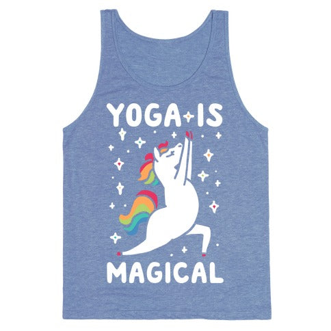 Yoga Is Magical Tank Top - Heathered Blue