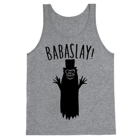 Babaslay Parody Tank Top - Heathered Gray