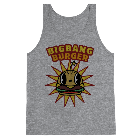 Big Bang Burger Tank Top - Heathered Gray