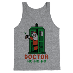 Doctor Ho-Ho-Ho Tank Top - Heathered Gray