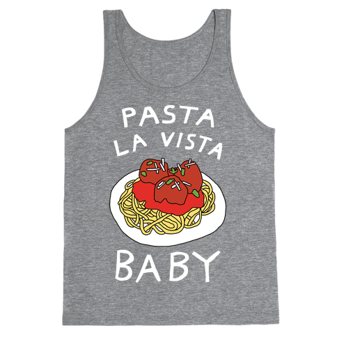 Pasta La Vista Baby Tank Top - Heathered Gray