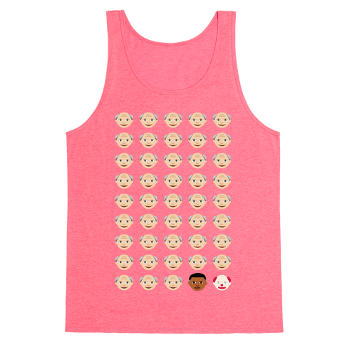 American Presidents Explained By Emojis Tank Top - Neon Pink